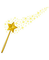 Wand with Stars 205H