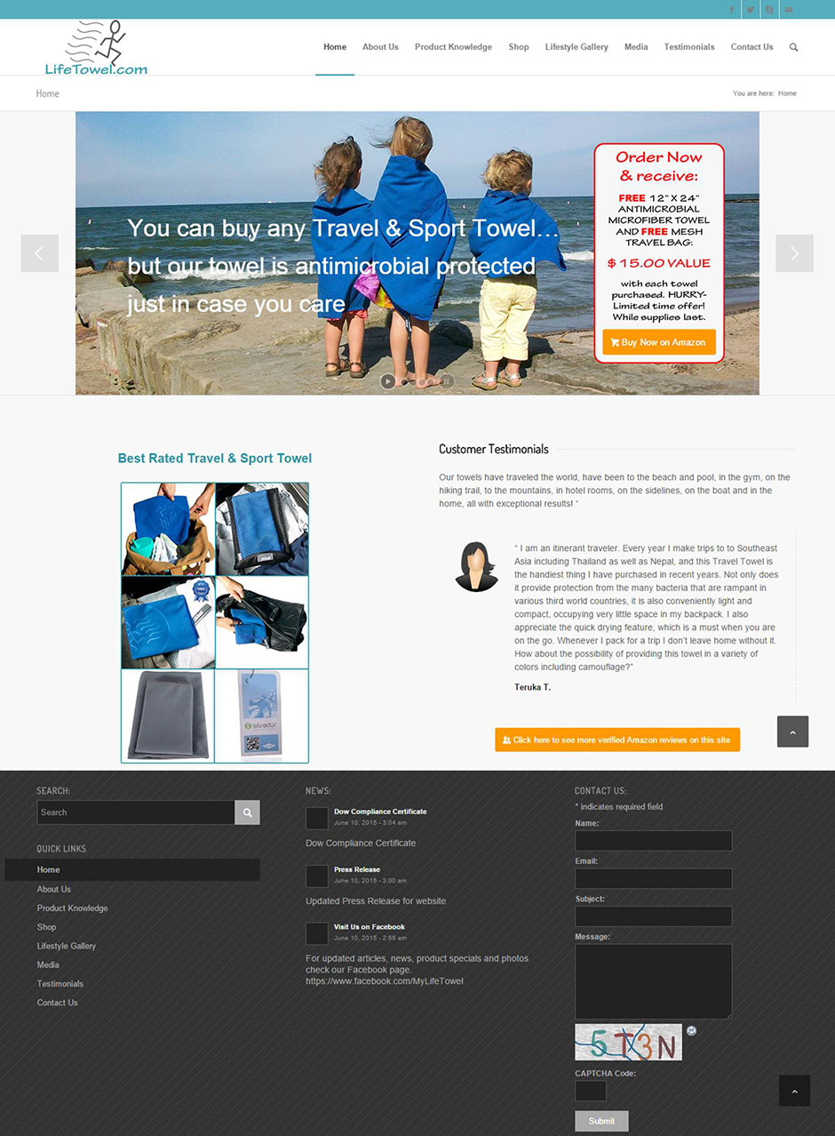 Life Towel Home Page