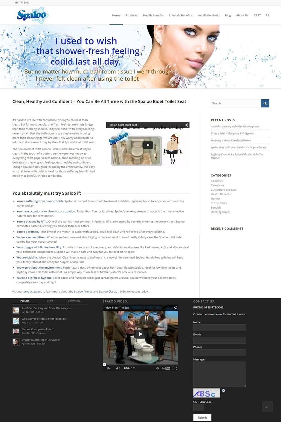 Spaloo Home Page